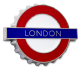 London Underground Sign, London, Bottle Opener/Fridge Magnet (GWC)